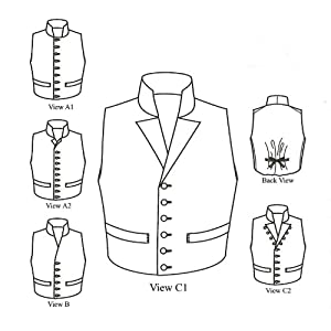 1790 - 1850 Single-breasted Mans Waistcoats (Vests) Pattern