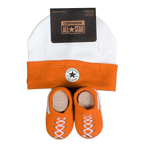 Converse Baby 2-er Geschenk-Set Mütze Söckchen Vivid Orange