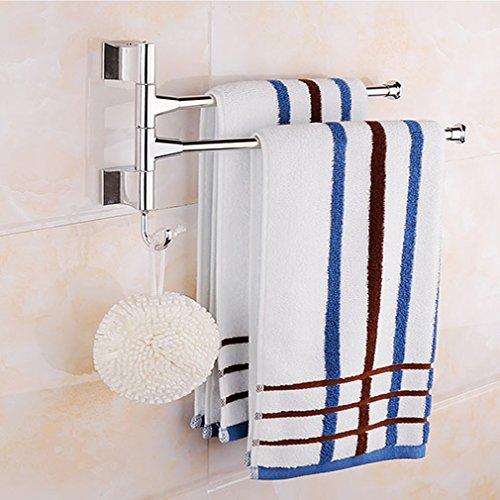 BONADE-Edelstahl-Badetuchstange-Handtuchhalter-mit-234-Bewegliche-Armen-zur-Wandmontage-Schwenkbereich-180