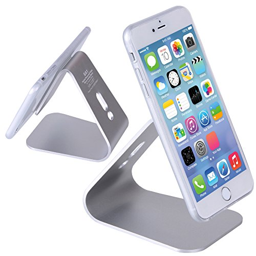 (iSmile) スマホ タブレット スタンド ドック アルミ製 iPhone iPad mini Apple Watch Nexus 7等に最適 シルバー