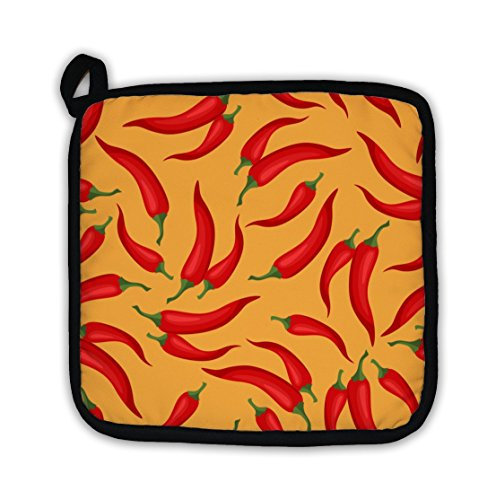 Gear New Pot Holder, Pattern With Fresh Ripe Chili Peppers, GN11183