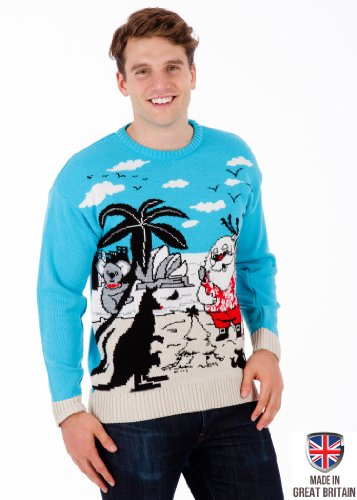 Christmas in Australia - Mens Christmas Sweater by British Christmas Jumpers (XL)