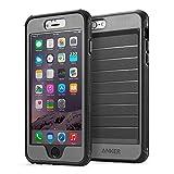 Anker® iPhone 6 Plus 5.5インチ用 スクリーンプロテクタ内蔵強力保護ケース 落下試験済み 防水(IPX3:防雨形)・防塵機能付 (ブラック/グレイ)