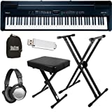 Roland FP-7F Black Digital Piano ESSENTIALS BUNDLE w/ Stand & Bench