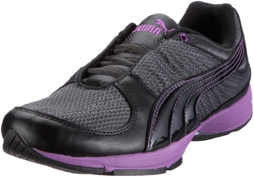 Puma Wylie Infinity Wn's 185990, Damen Sportschuhe - Fitness, Schwarz (black-dark shadow-dewberry 04), EU 39 (UK 6) (US 8.5)
