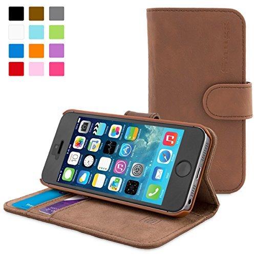 英国Snugg製 iPhone4 / iPhone4s 用 手帳型 PUレザーケース カードポケット・スタンド機能付き (ブラウン)