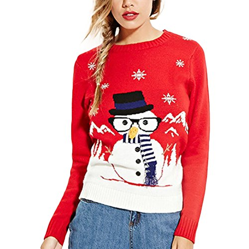 Women's Long Sleeve Print Knitted Christmas Jumpers