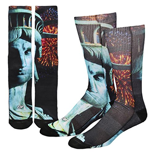Face of Liberty Statue of Liberty Sublimation Socks
