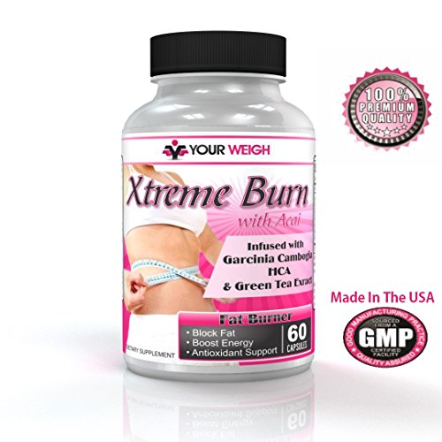 Big Savings While Supplies Last! - Xtreme Burn Infused With Garcinia Cambogia HCA, Pure Green Tea Extract & Powerful Antioxidants Combined To Form The Highest Quality Fat Burning Supplement For Women