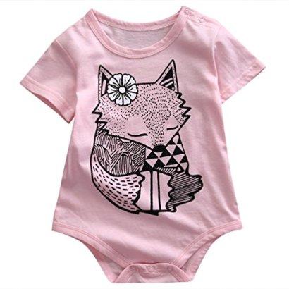 Infant-Baby-Boy-Girl-Fox-Pattern-Pink-Romper-Onesie-Bodysuit-for-0-18Month-L12-18months-Pink
