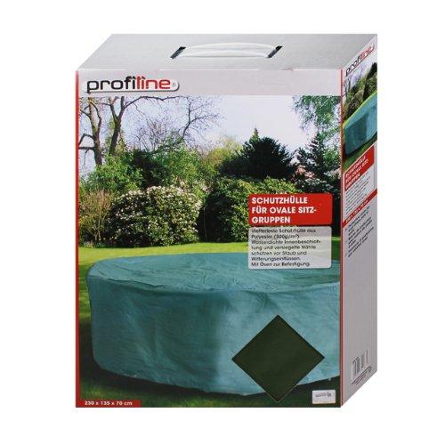 PROFILINE 454204 - Wetterfeste Schutzhülle Gartenmöbel Abdeckung 230cm oval Sitzgarnitur Gartenmö