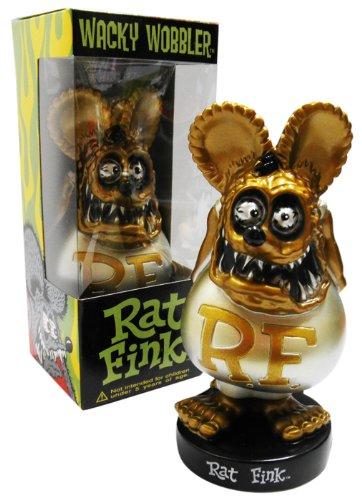 BIG DADDYエドロスの名キャラクター『RAT FINK』!【ボビングヘッド★ラットフィンク(シルバー)】 FUNKO製RatFink☆アメリカン雑貨アメリカ雑貨
