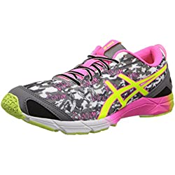 ASICS Women's Gel-Hyper Tri¿ Onyx/Flash Yellow/Flash Pink 8 B - Medium