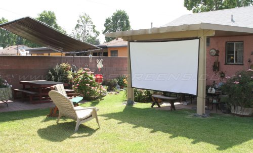 Elite Screens DIY Pro Series, 114-inch 16:9, Do-It-Yourself Indoor & Outdoor