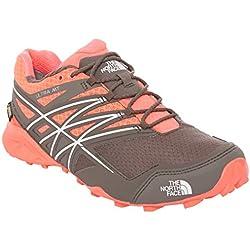The North Face Ultra MT GTX Shoes Women rocket red/dark gull grey Größe 37,5 2016 Trailrunning Schuhe