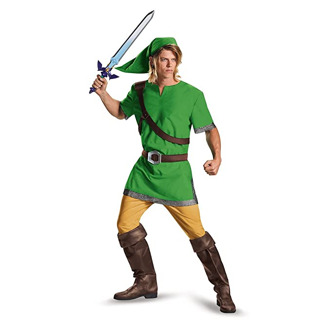 Disguise Men's Link Classic Adult Costume, Green, Medium