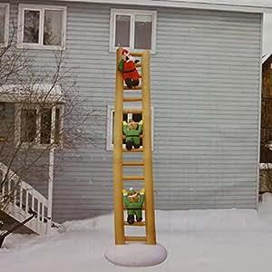 Amazon.com : 4' Inflatable Lighted Animated Santa Claus ... on Backyard Decorations Amazon id=11399