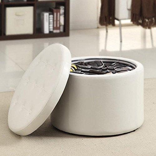 Convenience-Concepts-Designs4Comfort-Modern-Round-Shoe-Ottoman