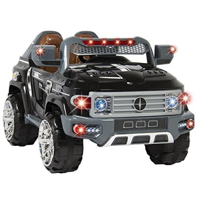 Ride-On-Truck-Car-Kids-With-Remote-Control-LED-Lights-AUX-and-Music-MP3-12V-Motors
