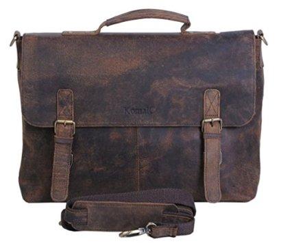 KomalC-15-Inch-Retro-Buffalo-Hunter-Leather-Laptop-Messenger-Bag-Office-Briefcase-College-Bag