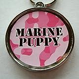 Marine Puppy Pink ID Tag