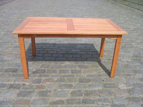 Gartentisch Santos rechteckig mit Einfassung - 150 x 90 x 72 cm