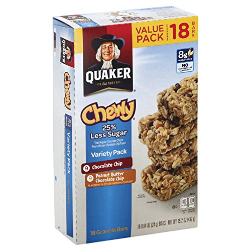 Quaker Chewy Granola Bars 25 Less Sugar Variety Pack 18
