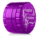 "Compton Grinder 2.5"" Four Piece Herb Grinder Purple"