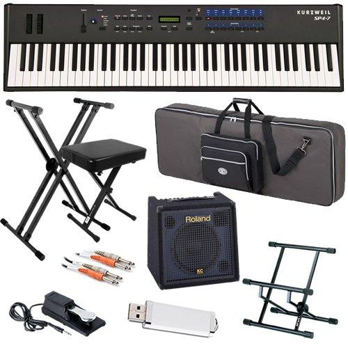 Kurzweil SP4-7 Stage Piano STAGE BUNDLE w/ Keyboard Amp, Case & Stand