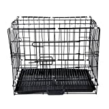 Aipet Single-door Folding Metal Dog Cat Crate (23.5-inch)