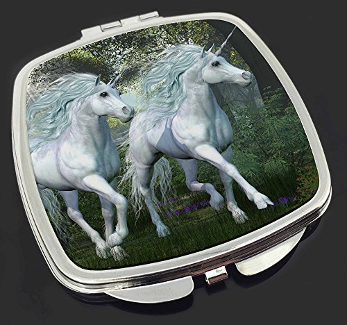 Two-White-Unicorns-Make-Up-Compact-Mirror-Stocking-Filler-Gift