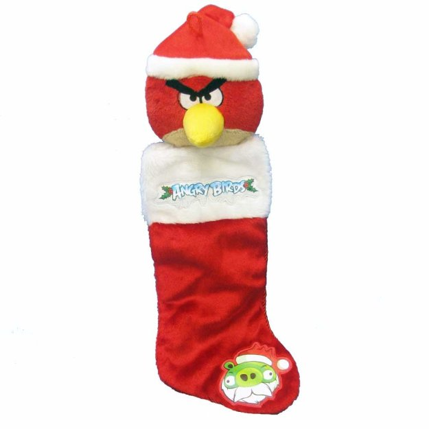 Kurt Adler Angry Birds Plush Head Stocking
