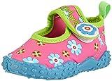 Playshoes Badeschuhe Blumen mit höchstem UV-Schutz nach Standard 801 174759, Mädchen Aqua Schuhe, Pink (original 900), 18/19 EU