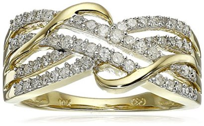 10k-Yellow-Gold-Diamond-Ring-13-cttw-H-I-Color-I3-Clarity-Size-8