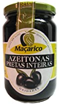 Macarico Portugese Whole Ripe Black Olives 12.3 oz. Jar