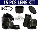 Super KIT for NIKON COOLPIX L110 L-110 (with the ring), includes