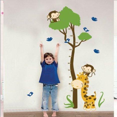 adesivi murali per bambini per misurare altezza
