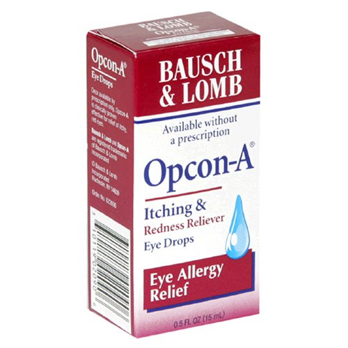 ... & Lomb Opcon-A Itching & Redness Reliever, Eye Allergy Relief Eye
