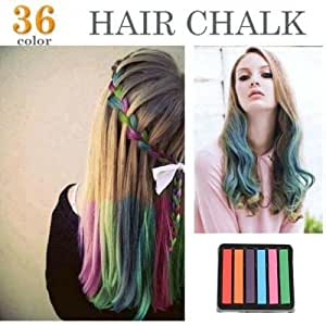 6 colors non toxic temporary hair chalk dye soft pastels salon kit show party beauty
