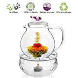 Tea Beyond Tea Set Teapot Pink Love 34 Oz 1000 Ml Warmer Wave for Green Tea Black Tea Oolong Tea