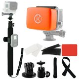 CamKix-Pole-and-Floater-Bundle-for-GoPro-Hero-Includes-1-Adjustable-Telescopic-Pole-with-14-40-Extension-2-Adjustable-Straps-to-Attach-Wifi-Remote-remote-not-included-1-Float-for-GoPro-Backdoor-Waterp