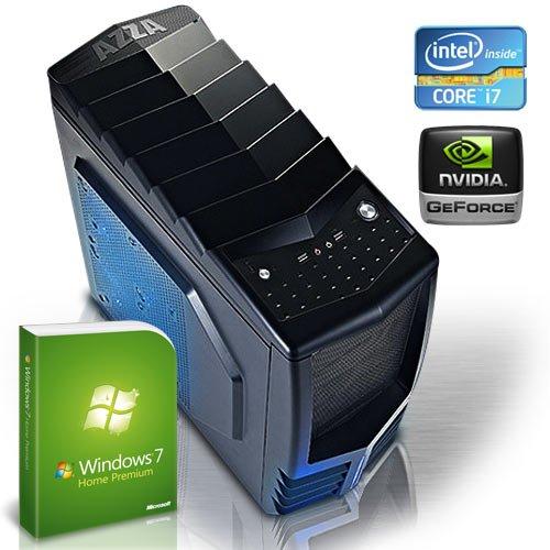 KCS 184202 - Gamer-PC Intel i7-3770 Quadcore 4x 3,4GHz (Turbo bis 3,9GHz) | 8GB DDR3-1333 | 1000 GB SATA3 (6gb/s) | nVidia Geforce GTX650 2048MB GDDR5 (3DVision+DirectX11) | 22xDVD-RW | ASUS P8B75-M LX | USB3.0 | 5.1 Sound | Gigabit-LAN | Cardreader | 500W | Modding-Gehäuse | Microsoft Windows 7 Home Premium 64-Bit