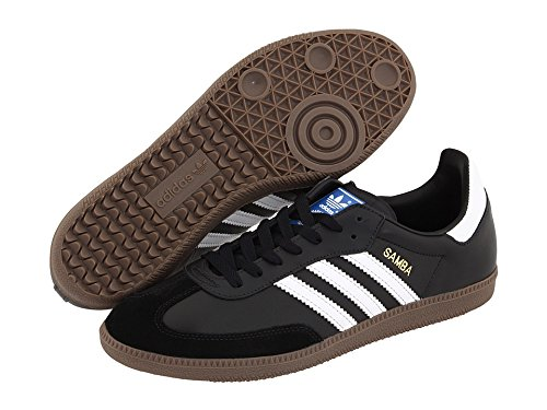 (アディダス) adidas 靴・シューズ メンズオリジナルズスニーカー adidas Originals Samba Leather Black/White US Men's 8.5, Women's 9.5 (26.5cm) Medium