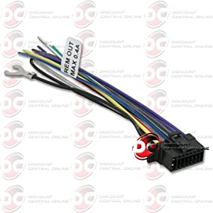 Amazon : SONY 16 PIN WIRING HARNESS FOR SELECT 2013 SONY HEADUNIT STEREO RADIO FOR WXGT80UI