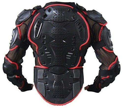 ウミネコ(Umineko) UM-PVC-UPPER-BODY-ARMER-02 【L】【コンパクト&しなやか設計】【メッシュ構造で通気性UP】【SOFT x HURD x ROOMの3レイヤー耐衝撃構造】【背中・胸・ヒジ・腕・肩・腰の6点ガード仕様】【ハンドゲーター仕様】【バイク/モトクロス/ポケバイ/MTB/BMX/SK8/スノボ等の上半身プロテクターとして】【着丈46 胸囲104 袖丈55 身長170-178】【レッド L】