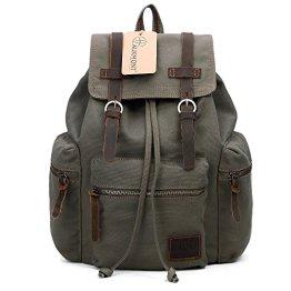 Vintage Canvas Backpack Outdoor Hiking Travel Rucksack 19L