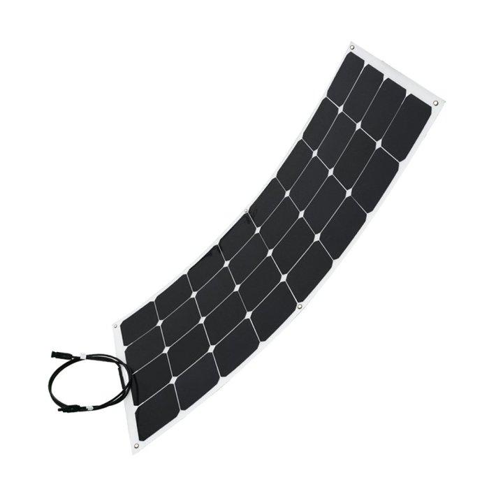 Renogy® 100W Monocrystalline Bendable Solar Panel We have purchased 2 of these at our own cost to add to our flexible solar panel testing, and be part of our ground deploy setup.
