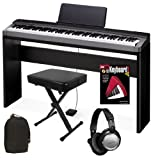 Casio PX-130 Digital Piano HOME BUNDLE w/ Furniture Stand and Bench