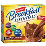 Carnation Breakfast Essentials Complete Nutritional Drink, Packets, Rich Milk Chocolate 10 ea