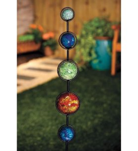 Solar Mosaic Balls Garden Stake